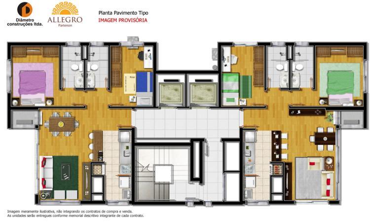 APTO 2 dormitórios ,novo, suite, living c/ 2 ambientes, churrasqueira no imóvel, 1 banheiro social, cozinha, área serviço com espera para máquina, água quente, esquadrias em ALUMÍNIO - 1 vaga de garagem - Escriturado - Imediações: AV.BENTO GONÇALVES - construção em: 2013 - 65 m2 de área privativa, - 130m2 de área total, - Em Construção - Edificio em OTIMO estado de conservação, jardim, gradil, Fitness Center, churrasqueira, - 2 unidades por andar , cozinha americana, terraço condominial.