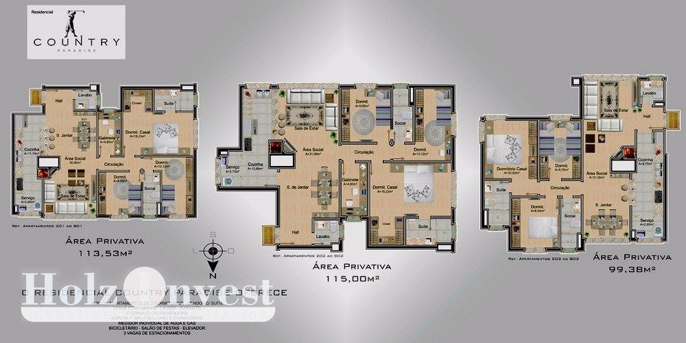 Excelente apto de 3 dormitórios, novo, 1 suíte,   living p/ 2 ambientes,    lareira,   churrasqueira no imóvel,  sacada ,  lavabo,    gabinete,   1 banheiro social,    wc auxiliar,   área serviço com espera para máquina, água quente,    espera p/ar parede,    - 2 vagas de garagem  - Imediações: Bourbon Wallig  - 111 m2 de área privativa   - 145 m2  de área total. Entrega Setembro 2017.